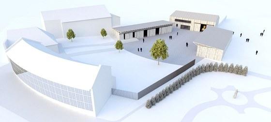 Vizualizace nového zázemí pro pracovníky pečující o parky, které vznikne v Podzámecké zahradě v Kroměříži.