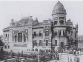 Polsk� d�m v Ostrav� v roce 1900.