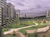 Central Parku na Žižkově se noví obyvatelé zatím vyhýbají.