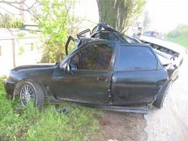 Nehoda Opelu Vectra v Litomyšli (4.5.2011)