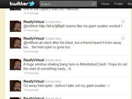 Twitter Sohaib Athar o zabití bin Ládina