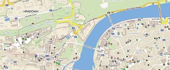 Mapa Běhu pro gorily