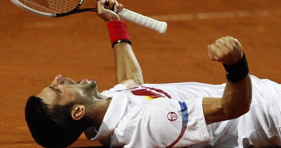 Novak Djokovi� slav� turnajov� titul z ��ma