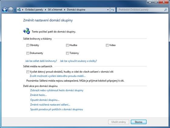 Funkce Domácí skupina ve Windows 7 nabízí snadný způsob jak sdílet data mezi více počítači v domácí síti