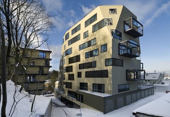 Kategorie Novostavba: Soubor bytov�ch dom� Triplex, auto�i: Boris Red�enkov, Prokop Tom�ek, Jaroslav Wertig / A69 - Architekti
