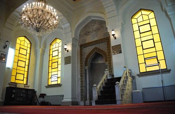 Mešita v Kóbe - interiér