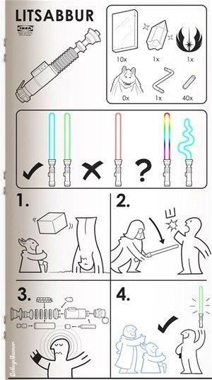 Ikea světelný meč