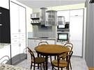Rekonstrukce obývacího pokoje a kuchyně.