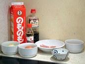 Ingredience potřebné na přípravu oyakodonu