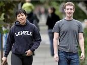 Mark Zuckerberg s přítelkyní Priscillou Chanovou