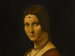 Leonardo da Vinci: La Belle Ferronniere (Portrét dámy)