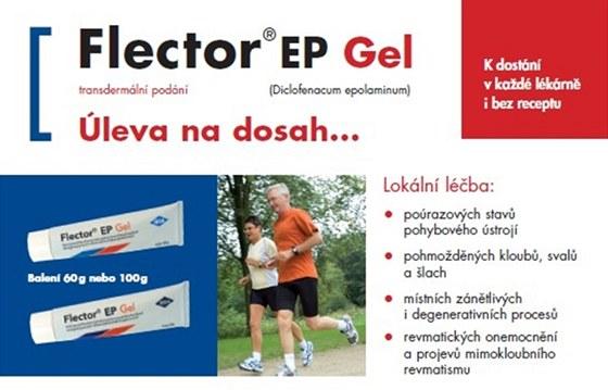 Bolestivé zranění léčí FLECTOR - úleva na dosah