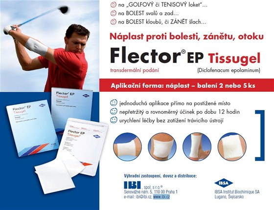 Náplast proti bolesti, zánětu, otoku Flector®EP Tissugel