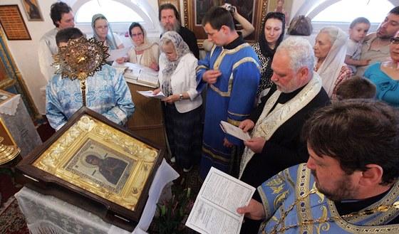 Zázračná ikona zůstala v Ostravě jen dvě hodiny.