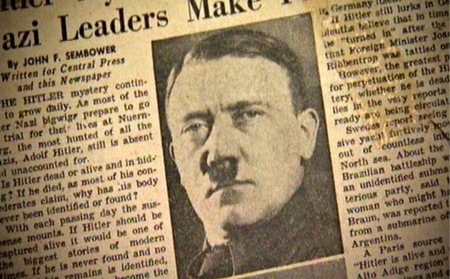 Západní média po válce spekulovala, jak mohl Hitler na út�ku zm�nit vizá�