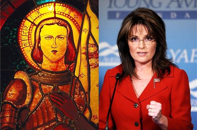 Francouzsk� hrdinka Johanka z Arku a americk� politička Sarah Palinov�