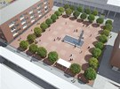 Vizualizace možné budoucí podoby Náměstí 28. října v Orlové.