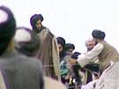 Vůdce Talibanu mulla Muhammad Umar na jedné z mála fotografií