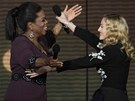 Madonna se loučí s Oprah Winfreyovou v ejdnom z posledním dílů slavné show