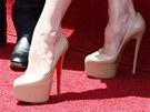 Těhotná Victoria Beckhamová nosí v osmém měsíci boty na vysokých podpatcích.