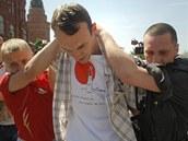 Pokus o demonstraci za pr�va gay� v Moskv� nevy�el. Jakmile ��astn�ci zak�i�eli n�jak� heslo, policie je hned zatkla