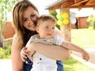 Klára Davidová se synem Sebastianem (2011)