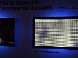 Jak pracuj� LED diody (vpravo) u televizor� Toshiba (vlevo obraz, kter� je podsv�tlov�n)