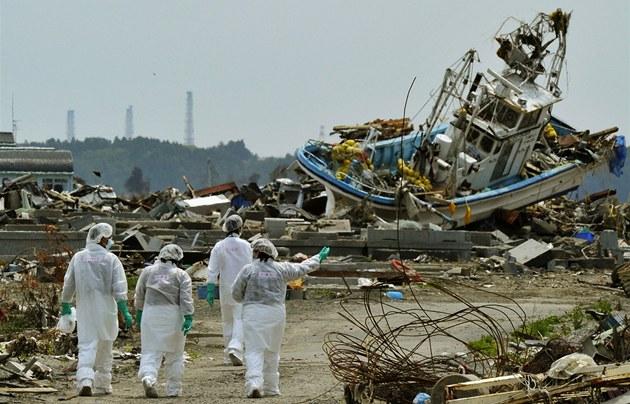 Po nehodě jaderné elektrárny Fukušima zůstala velká oblast Japonska částečně zamořena radioaktivitou. (březen 2011)