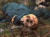 Ostatky ob�t� masakru ve Srebrenici