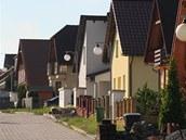 Nové domky v Kvasinách na Rychnovsku.