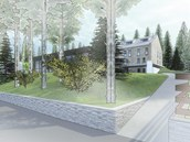 Vizualizace nové podoby hotelu Montanie