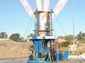 Pozemní zkouška motorů původního Orionu