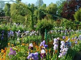 Pohled do zahrad, které Claude Monet sám stvořil, aby mu sloužily jako inspirace pro jeho obrazy.