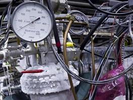 Aparatura experimentu ALPHA ve středisku CERN