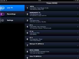 Elgato Tivizen - screnshot - seznam TV