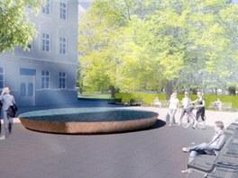 Před městskou knihovnou přibude místo k odpočinku v podobě lavičeky.