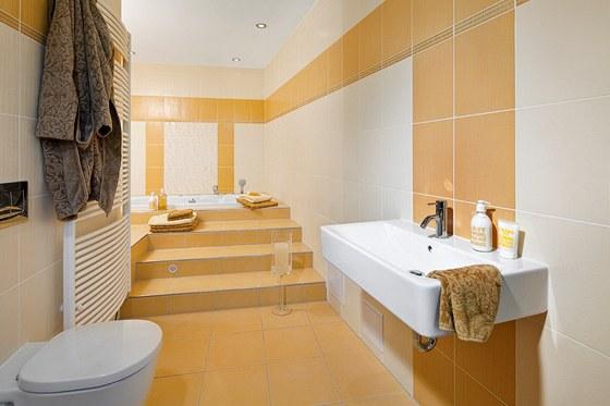 Koupelna v oranžovém provedení (série Remix)