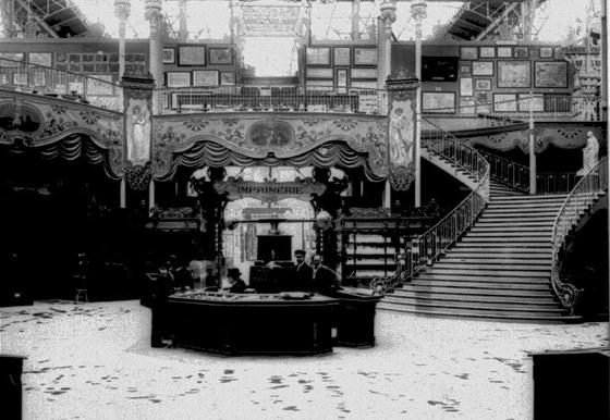 Interiér Bosenského pavilónu