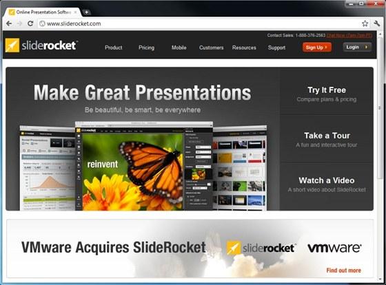SlideRocket je prakticky plnohodnotnou online náhradou PowerPointu s připravenými šablonami a mnoho funkcemi