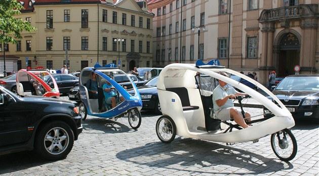 Velotrixi vozí v�t�inou turisty v centru metropole.