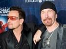 Autoři hudby k muzikálu Spider-Man: Turn Off The Dark a protagonisté skupiny U2 Bono a The Edge