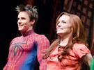 Děkovačka po premiéře muzikálu Spider-Man: Turn Off The Dark