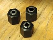 Každý přístroj by měl mít v základním balení několik druhů kleštin podle průměru stopky frézy.