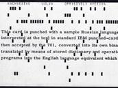 Automatizovaný překlad z ruského do anglického jazyka - 1954