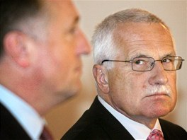 Václav Klaus a Mirek Topolánek.