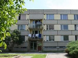 Panelový dům na místě mezi Havlíčkovým a Smetanovým náměstím v Havlíčkově Brodě
