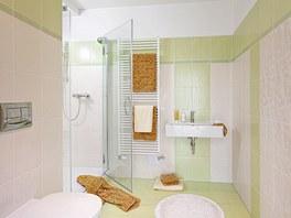 Koupelna v zeleném provedení