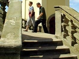 Vstup ze schodiště se otvírá jen při slavnostních příležitostech.