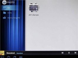 Multimediální přehrávač nemoPlayer v tabletu Acer Iconia A500
