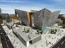 Budova muzea má výrazný tvar pětiúhelníku. Cípy budovy připomínají lodní kýl.
